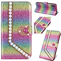 6City8Ni Unique Style Brilliant Loves Compatible with Samsung J4 2018,Flip Bling Diamond Sparkle Glitter Wallet Leather Stand Kickstand Function Slim Bookstyle Magnetic Switch Closure Card Slots