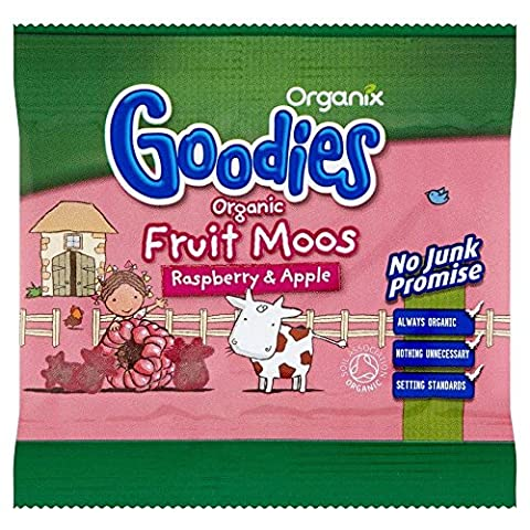 Organix Goodies Organic Fruit Moos - Framboise & Apple (12g) - Paquet de 2