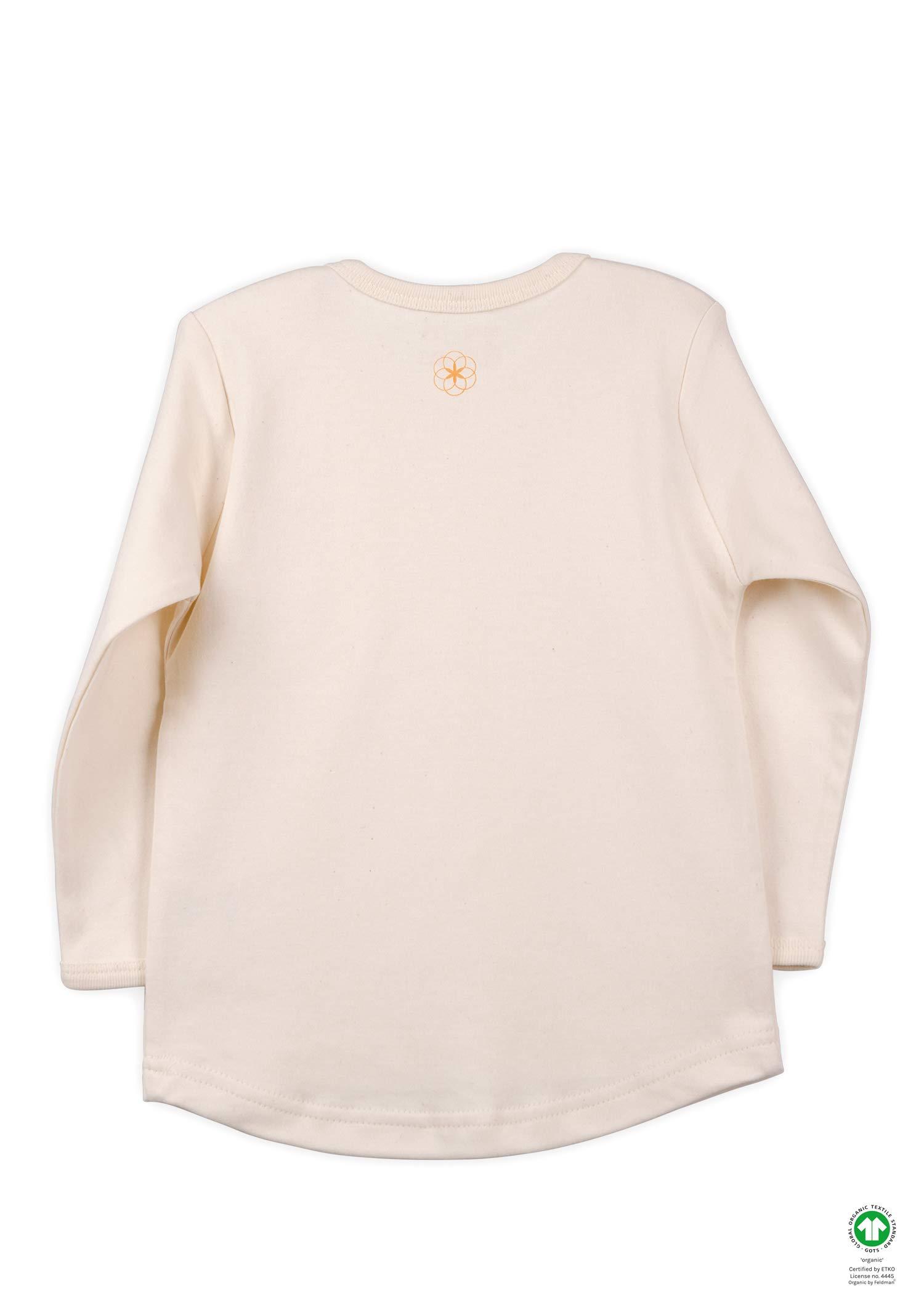 Camiseta de manga larga Organic by Feldman, 100% algodón orgánico, certificado GOTS, con cuello elástico, dobladillo… 2