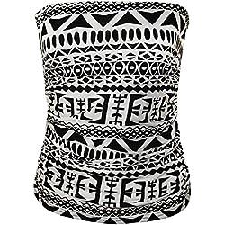 Janisramone - Camiseta sin mangas - Sin mangas - para mujer Big Aztec S/M