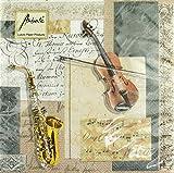 Servietten Violine/Saxofon - Schönes Geschenk für Musiker