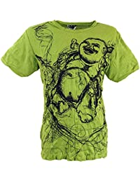 901fc2356a59 Guru-Shop Sure T-Shirt Happy Buddha, Herren, Baumwolle, Bedrucktes Shirt