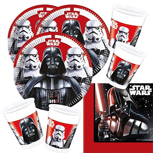 52-teiliges Party-Set Star Wars Final Battle - Teller Becher Servietten für 16 ()