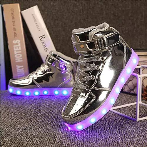 BurgessJosh Scarpe da Ginnastica a LED in Fibra Ottica Illuminano la Sneaker per Uomo Donna Ragazzi Ragazze Scarpe da Ginnastica Lampeggianti