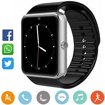 CatShin Smartwatch Android y IOS-Reloj Inteligente Reloj Deportivo Pulsera Actividad Con Pulsómetro Podómetro,