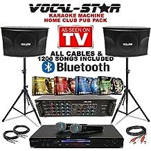 Vocal-Star Complete Karaoke Party Set including Bluetooth & 1200 Songs, [Importado de UK]