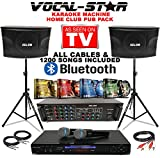 Vocal-Star Party Pack Complete Karaoke Party Set including, Karaoke, Speakers, Amplifier, Stands and 1200 Songs