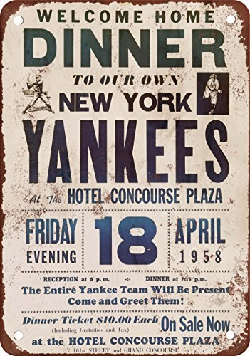 new-york-yankees-1958-welcome-home-vintage-riproduzione-in-metallo-tin-sign-203-x-305-cm