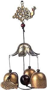 3-Rohr Metall Glocke Windspiel Feng Shui Haus Garten Dekoration