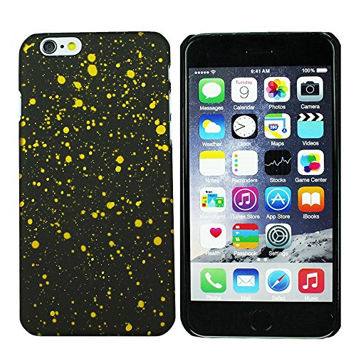 Heartly Night Sky Glitter Star 3D Printed Design Retro Color Armor Hard Bumper Back Case Cover For Apple iPhone 6 Plus 5.5 inch - Sweet Yellow  available at amazon for Rs.199