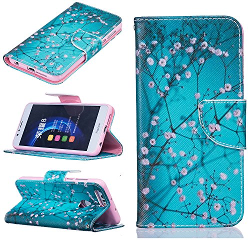 bonroyr-fur-huawei-honor-8-schutzhulle-lanyard-bunte-painted-gemalt-muster-wallet-case-mit-weich-tpu