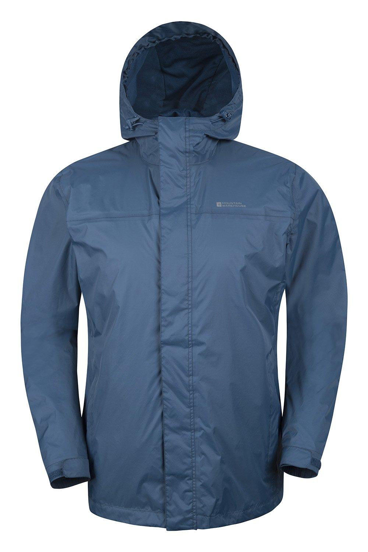Mountain Warehouse Torrent Mens Waterproof Rain Jacket - Waterproof Raincoat, Lightweight Coat, Taped Seams, Zipped Pockets Casual Cagoule Jacket - for Travelling 1