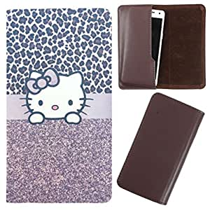 DooDa - For Lava Iris 450 Colour+ PU Leather Designer Fashionable Fancy Case Cover Pouch With Smooth Inner Velvet