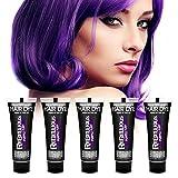 PaintGlow, SEMI-PERMANENT HAIR DYE 65ml, Purple Fury, 5 Pack