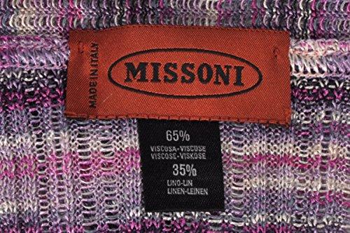 Missoni Poncho - Orange Label, Multicolore, seruna M-XL, 60 x 60 cm Violetttöne