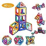 Shinehalo 40PCS Costruzione magnetica ambientata in più colori Giocattolo creativo 3D educativo Bambini bambini Set di sviluppo immaginazione creativa