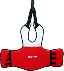 Fighter Unisex Chest Guard, Large, Red