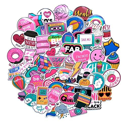 angjialian VVc Waterproof Girls Fun Stickers Toys Gepäckaufbewahrung Koffer Laptop Stickers(None Picture Color)