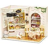 CUTEBEE Een miniatuur van een poppenhuis met daarin meubels,DIY houten poppenhuiskit en stofdichte,Creatieve kamercreativitei