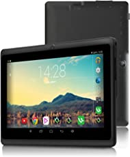 iRULU 7 Zoll Tablet Google Android 6.0 Quad Core 1024x600 Dual Kamera Wi-Fi Bluetooth 1GB/8GB Play Store NetFilix Skype 3D Spiel Unterstützt Gms Zertifiziert mit Einem Jahr Garantie (Schwarz)