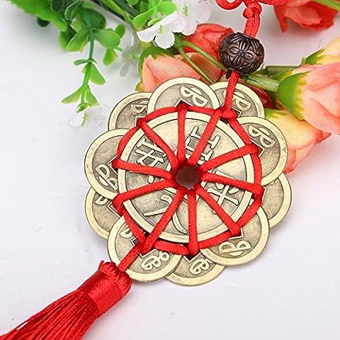 Bluelover Monedas de antigua suerte prosperidad protección Feng Shui mascota artesanías