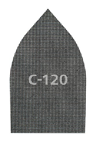 Wolfcraft 8465000 Pack de 5 Tejidos de Rejilla adherente, 107 x 175 mm