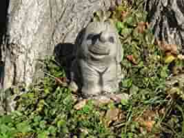 Many more ornaments in my shop! Nelly the elephant stone garden ornament