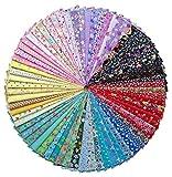 Grannycrafts 70pcs 20x 30cm (20x 30cm) en coton imprimé Craft Tissu Bundle carrés Patchwork peluches Imprimé Chiffon Tissu de soie DIY Couture Scrapbooking quilting Tissu sergé