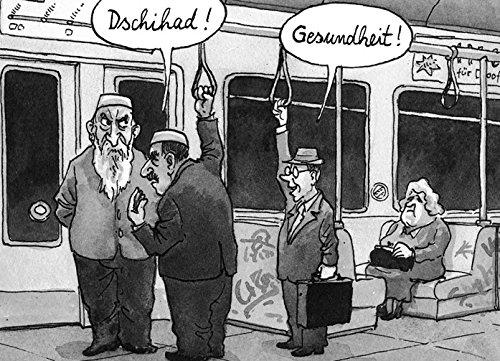 Postkarte A6 • 7753 ''Dschihad'' von Inkognito • Künstler: Greser & Lenz • Satire • Cartoons