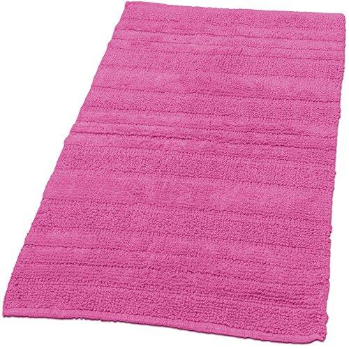 Paco Home Badematten Badezimmermatte Badteppiche Baumwolle in Uni versch. Farben u. Größen, Farbe:Pink, Grösse:50x55 cm