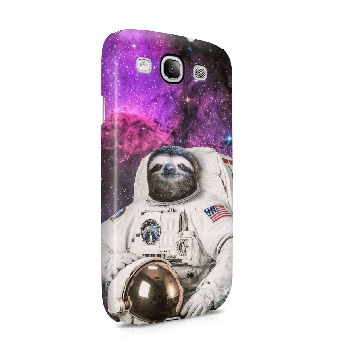 Astronaut Sloth Cosmic Cover Samsung Galaxy S3 Snap-On Hard Plastic Protective Shell Case Cover Cust