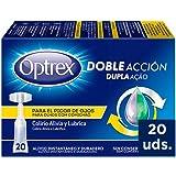 Optrex Colirio Monodosis Doble Acción para Picor de Ojos, Negro, Estándar, 20 Unidades