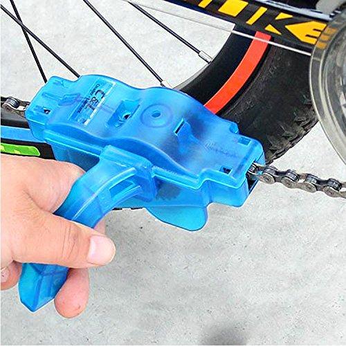 Tesan Fahrrad Kettenreinigungsgerät Cycling Bike Bicycle Chain Cleaner,Bike Chain Cleaner Set Ritzelbürste Zahnkranzkratzer, Blau - 6