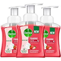 Dettol Foaming Handwash Pump - Strawberry (Pack of 3-250ml each) | Rich Foam | Moisturizing Hand Wash | Soft on Hands