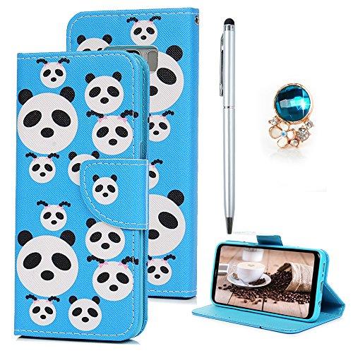 Für Samsung Galaxy S8 Plus Hülle Leder Flipcase Tasche Schutzhülle  Handyhülle Kunstleder Wallet Schale Etui Brieftasche