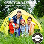 EASELAND 3-4 Season Envelope Style Sleeping Bag for Camping,Hiking,Backpacking and Outdoors Activity-Suit for Adults… 14