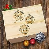 My First Christmas, Personalisierbar Weihnachtskugeln Laser geätzt Christmas Eve Holz Geschenkbox