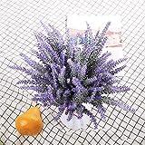 Veryhome Künstliche Lavendelblumen, künstliche Lavendelpflanze, für Hochzeit, Party, Zuhause, Außendekoration, 6 Stück