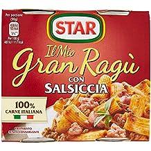 Star Gran Ragú Salsiccia, 2 Lattine da 180 G - 360 gr