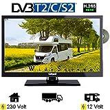 Gelhard GTV2242 LED Fernseher 22 Zoll DVB/S/S2/T2/C, DVD, USB, 12V 230 Volt
