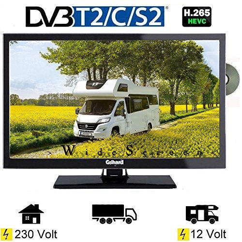 Gelhard GTV2242 LED Fernseher 22 Zoll DVB/S/S2/T2/C, DVD, USB, 12V 230 Volt -