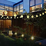MMLC Solarbetriebene 30 LED String Licht Garten Pfad Yard Decor Outdoor Festival Lampe Beleuchtung Lichter LED String Light (Gelb)