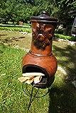 Antikas - Terrassenofen, Ton, Ofen für die Terrasse, Kaminofen, Girasol 90