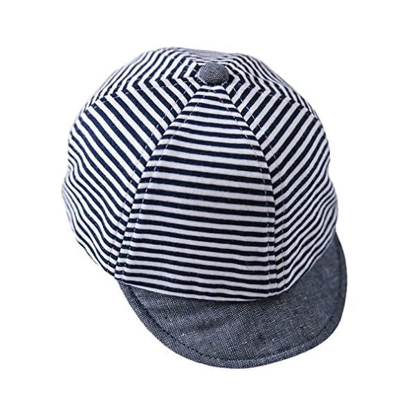 Cloud Kids - Sombrero para bebé o niña, protección contra el sol, diseño de rayas, estrellas, verano y sol 4