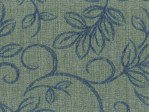 Möbelstoff Varese Farbe 15 (grau, blau) - modernes Chenille-Flachgewebe (gemustert, floral), Polsterstoff, Stoff, Bezugsstoff, Eckbank, Couch, Sessel, Hussen, Kissen -