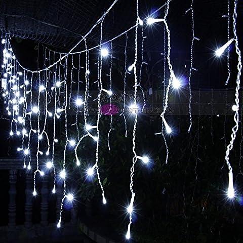 Illuminazione per esterni per case Natale Decorazioni Patio luci LED tensione 220V,Bianco 4 m bar di ghiaccio