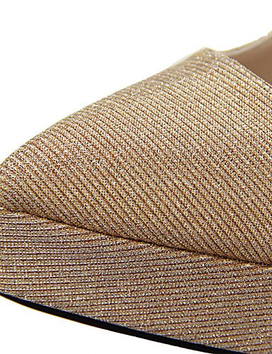 WSS 2016 Chaussures Femme-Extérieure / Bureau & Travail / Soirée & Evénement-Noir / Bleu / Rose / Argent / Gris / Or-Talon Aiguille-Talons / Bout golden-us7.5 / eu38 / uk5.5 / cn38