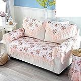 Rural Cojines de sofá, Cordón Tela Respaldo toalla Toalla brazo Cubrir Toalla de sofá-A 140x190cm(55x75inch)