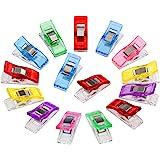 Anpro 60 stuks klemmen 27 x 10 mm naai-accessoires stofklemmen 6 kleuren voor naaien, quiltclips, haken, eenmalig gebruik