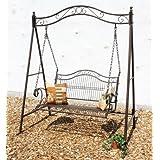 DanDiBo Ambiente 082505 - Columpio para jardín (hierro forjado)